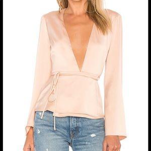 REVOLVE [L'Academie] The Eliot blouse in rose